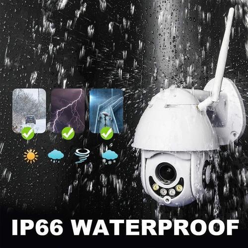 câmera ip wifi externa ptz dome prova de água hd icsee + nf