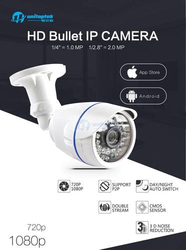 câmera ip wireless  unitoptek 1080p , prova d´agua+fonte 12v