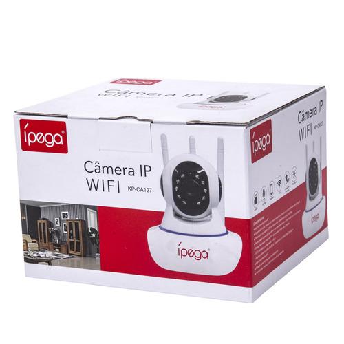 câmera ip wireless wifi c/ infrared + 3 antenas - rotativa
