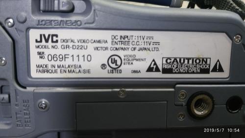 câmera jvc  gr-d22u defeito