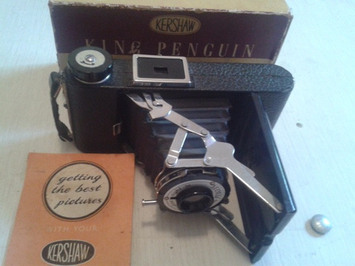 câmera king penguin antiga inglesa