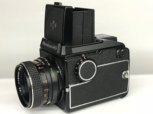 câmera mamyia 645/80mm 2.8(acessórios).na caixa.
