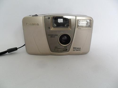 câmera máquina fotográfica antiga canon prima bf 800 coleção