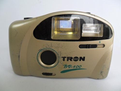 câmera máquina fotográfica antiga tron bv 100 coleção