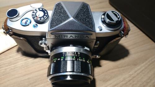 câmera miranda g + lente 50mm 1.9 zeradas!