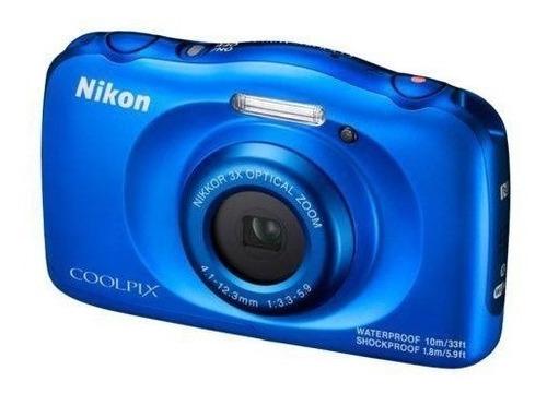 câmera nikon coolpix w100 prova d'agua wifi bluetooth-