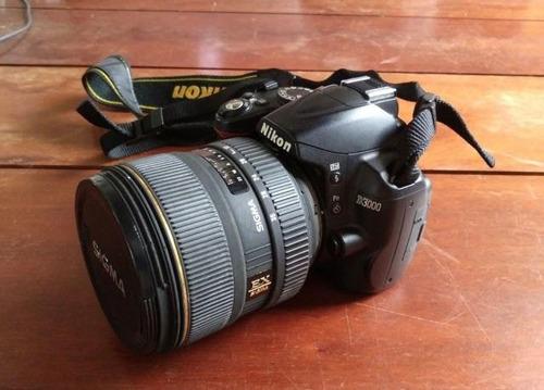 câmera nikon d-3000 com 2 lentes