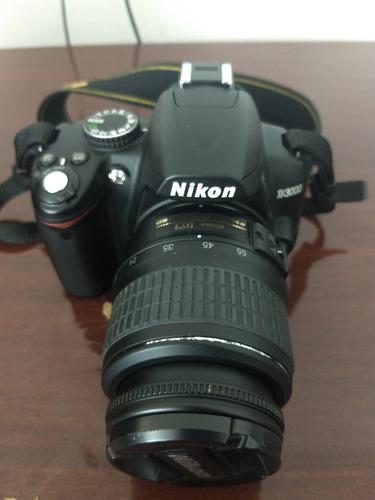 câmera nikon d3000 com lente 18x55, 55x200 e acessórios