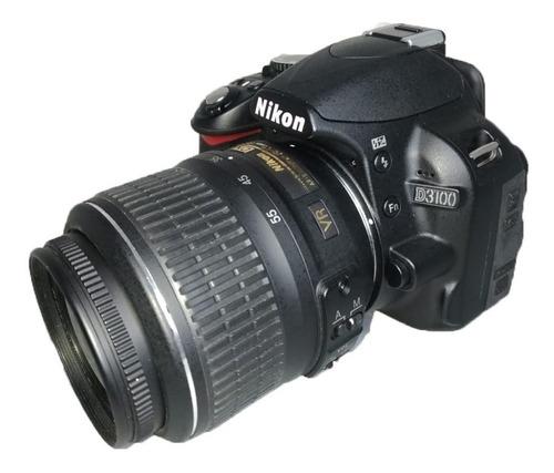 câmera nikon d3100 usada + lente + alça + carregador