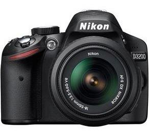 câmera nikon d3200 + carregador + tripé + cartão 4gb