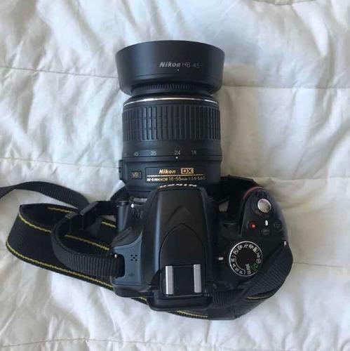 câmera nikon d3200 + lente 18-55mm afs