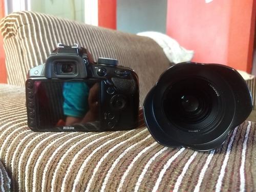 câmera nikon d3200 + youngnuo 35 f 2.0