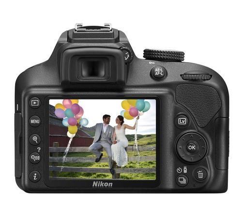câmera nikon d3400 kit +lente 18-55mm+64gb c/10+bolsa+tripé.