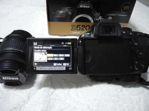 câmera nikon d5200 pouco usada mais alguns extras