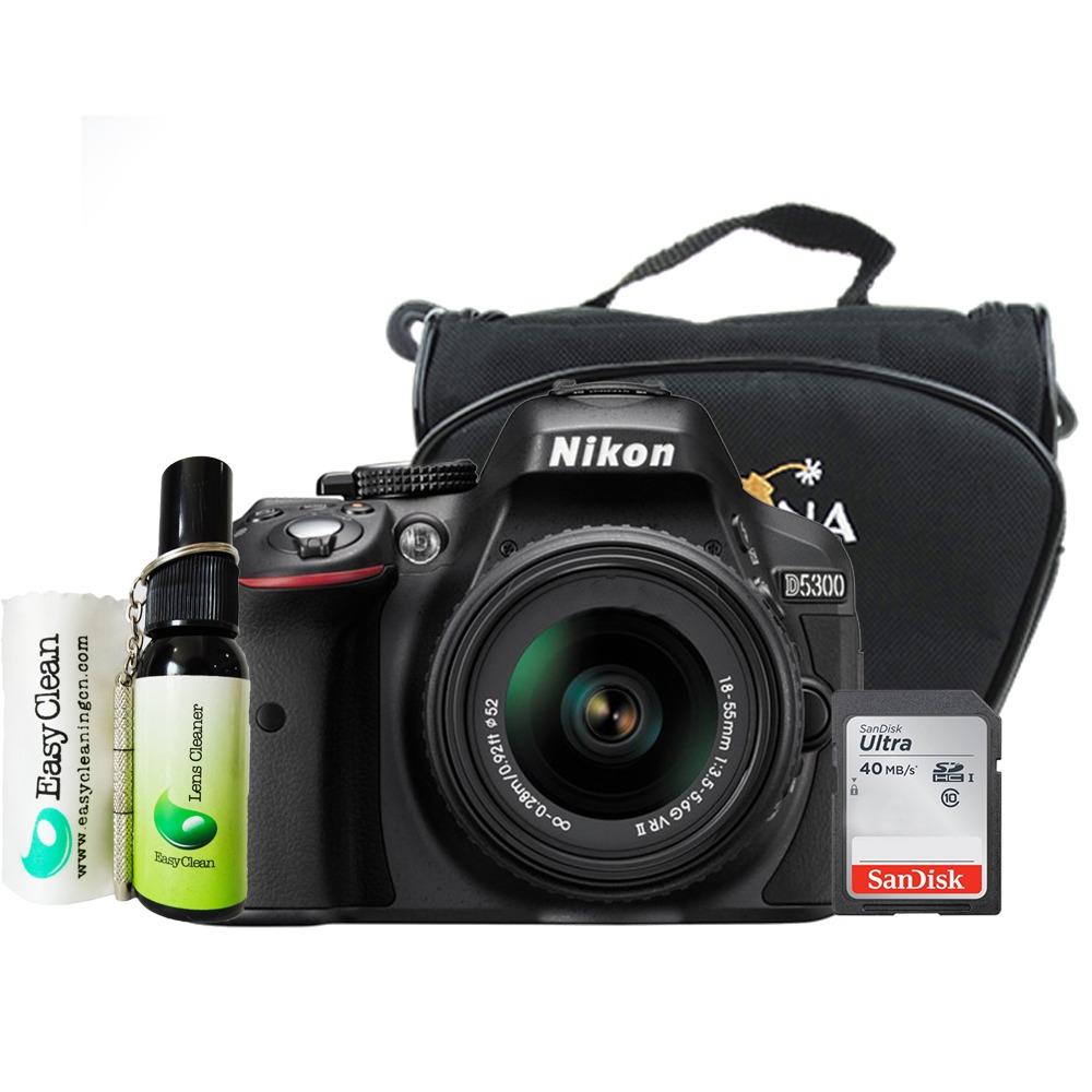 Cmera Nikon D5300 Af P Dx 18 55mm Vr Bolsa Sdhc Kit R 3180 Carregando Zoom