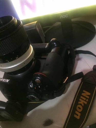 câmera nikon d5300 + flash yn ttl e brindes