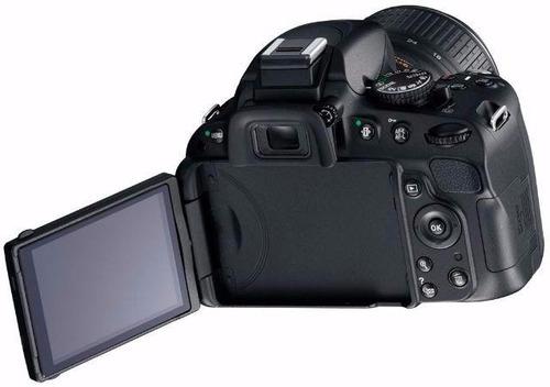 câmera nikon d5300 full hd kit 18-55mm+64gb c/10+bolsa+tripé