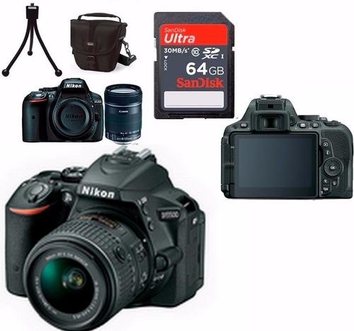 câmera nikon d5500 + 18-55 + bolsa + 64gb c/10 + tripé em sp