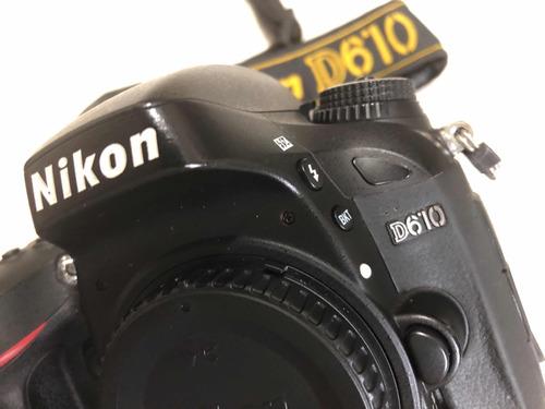 câmera nikon d610, só corpo, perfeita, pouquíssimos clics