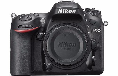 câmera nikon d7200 corpo+bolsa+tripé+32gb c/10 pta entrega