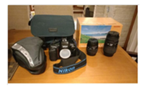 câmera nikon f50d + acessórios + 2 lentes sigma