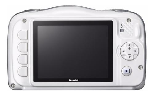 câmera nikon wifi coolpix w100 branca  à prova d'água