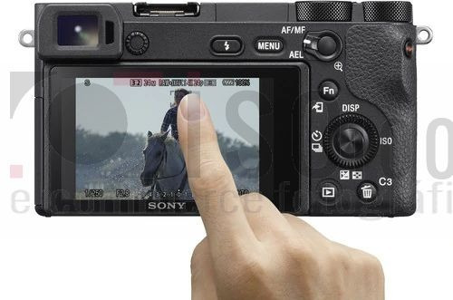 câmera nova sony alpha a6500 corpo e acess 4k nf-e gar. sony