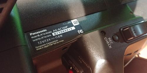 câmera panasonic profissional ag-ac160 avccam hd
