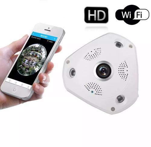 câmera panorâmica segurança 3d vr cam hd 1.3mp wifi 360º