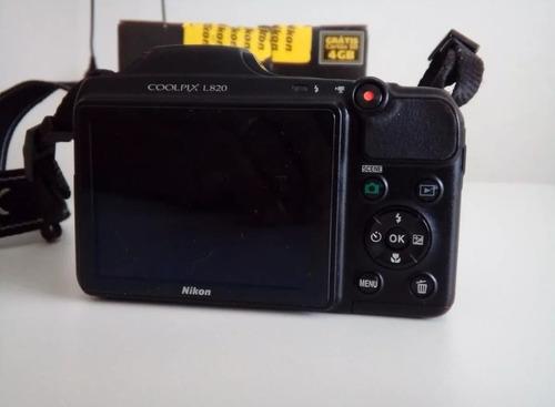 câmera profissional nikon l820 semi nova