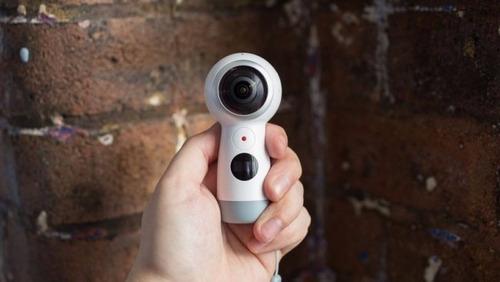 câmera samsung gear 360° sm-r210 branco 4k