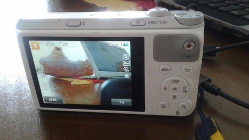 câmera samsung smart wb350f 16.3mp lcd 3.0 wifi full hd 21x