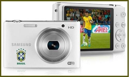 câmera samsung st2014f original nova sem uso! + cartão 8gb