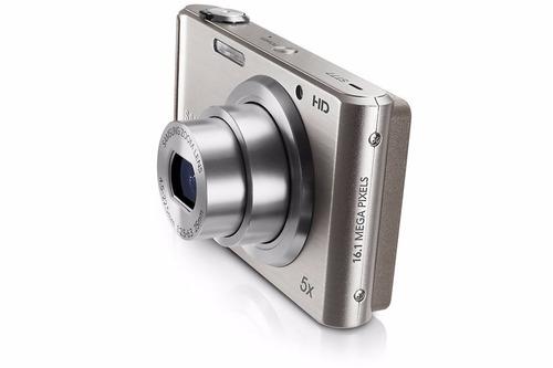 câmera samsung st77 16.1 megapixels - prata