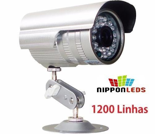 câmera segurança infra ccd sony 1/3 1200 linhas fonte