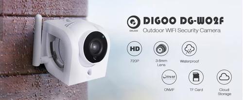 câmera segurança ip externa hd 720p digoo dg-w02f wifi