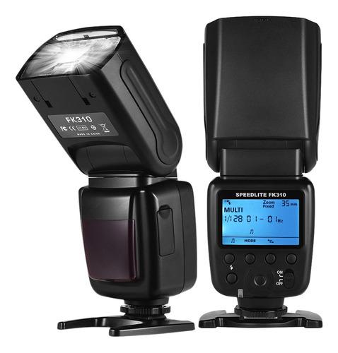 câmera sem fio universal flash light speedlite gn33 display