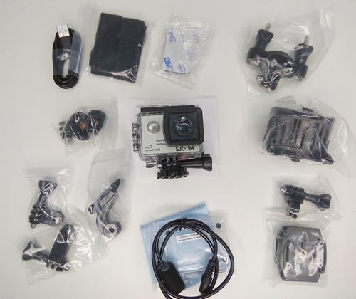 câmera sj5000x 4k elite sjcam+microfone capacete patomotos