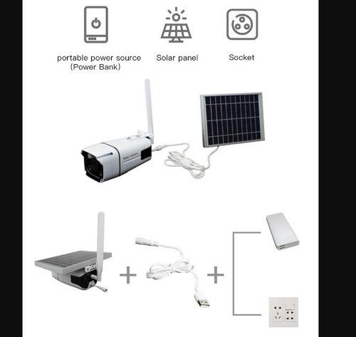 câmera solar 1080 ip67 c/32g painel 5.5w bateria 10400mah
