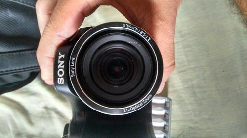 câmera sony-100 com acessórios