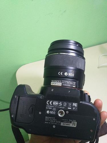 câmera sony alpha a230 com 18-55mm