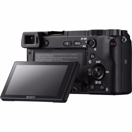 câmera sony alpha a6300 +lente 16-50mm mirroeless 4k wifi
