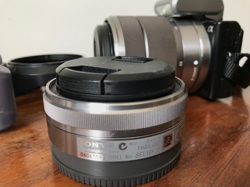 câmera sony alpha nex-5d (lentes + bolsa)