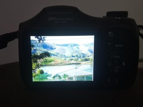 câmera sony cybershot dsc-h200 com cartão 16gb + bolsa