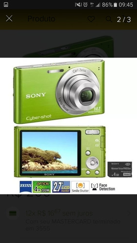 câmera sony digital 14.1 mp cyber shot dsc-w530