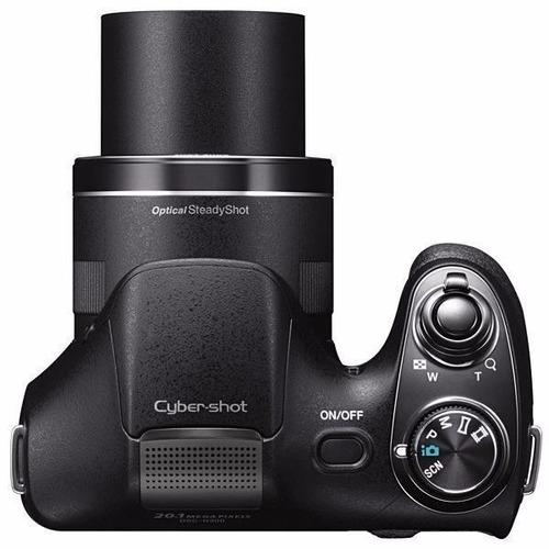 câmera sony dsc-h300 3.0  20.1mp zoom óptico 35x - preta