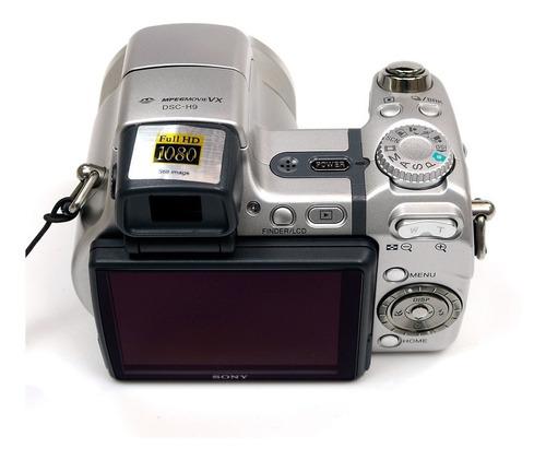 câmera sony dsc-h9 - carregador bateria cartão 2gb - full hd