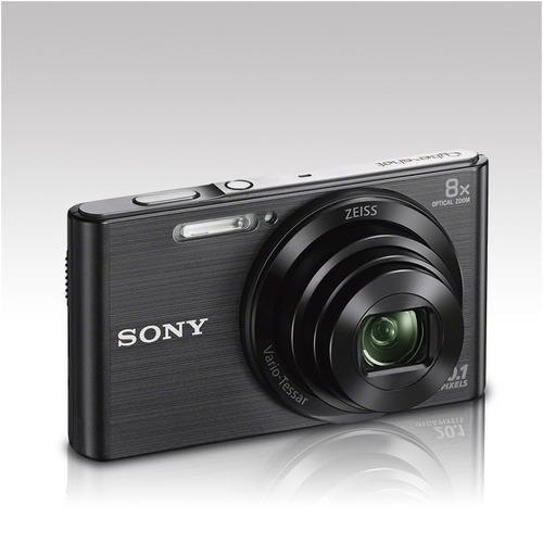 câmera sony dsc w830 20.1mp vídeos hd 8x zoom + cartão 8gb