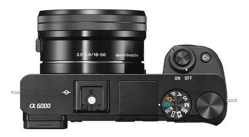 câmera sony mirrorless alpha a6000 + 16-50mm garantia sjuros