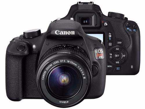 câmera t5 digital canon rebel lente 18-55m+32gb+bolsa
